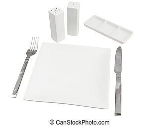 tableware against the white background