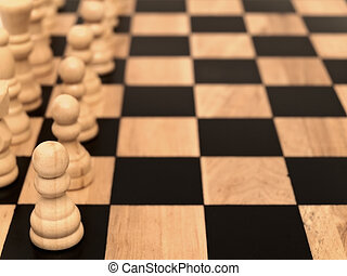 pawns at chess-board - Photo of the pawns at chess-board
