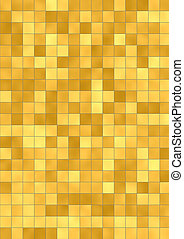 yellow mosaic background - illustration of the yellow mosaic...