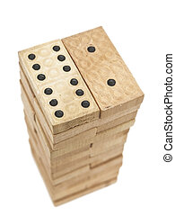 domino blocks - Photo of the domino blocks against the white...