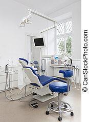 equipamento, dental, escritório