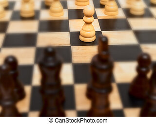 pawn - Photo of the pawn at the checkerboard