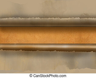 Horizontal  ripped paper for background made in 2d software