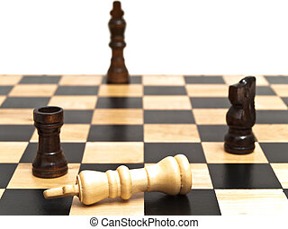 Chess - Photo of the game at the chessboard