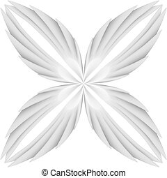 White wings pattern Illustration on white background