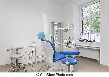 Dentist room - Bright interior of dentist room and seat