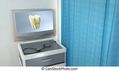 yellow tooth to white tooth medical - teeth screen in...
