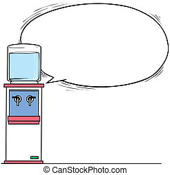 water cooler vector illustration