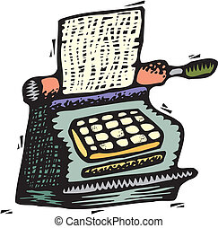 Typewriter, vector
