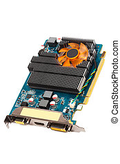 graphics card - computer graphics card on a white background