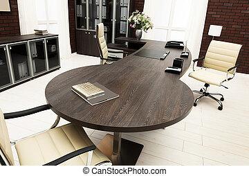 grande, escrivaninha