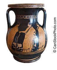 Ancient greek vase exposed in museum - Ancient greek vase...