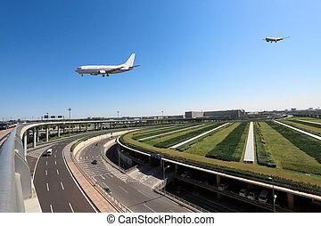 flight arrival in airport - flight arrival in beijing...