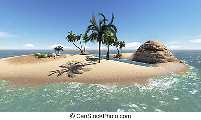Paradise Island for two made in 3d software