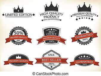 Satisfaction Guarantee Label - Vector Illustration of...
