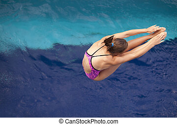 high diver - Diving board jump