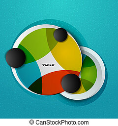 Colorful circles abstract vector design template