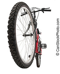 Mountain bike - mountain bike, front wheel in first plain