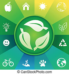 Vector recycle concept - ecology icons