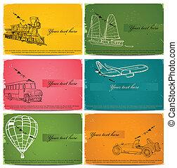 vintage business cards set Vector illustration EPS8
