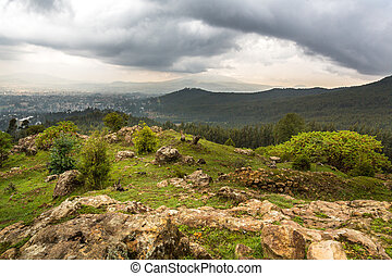 View from Mount Entoto - View of the beautiful landscape...