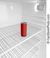 Can - Red aluminum can in the fridge