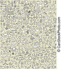 XXL Doodle Icons Set No.1 for every occasion in...