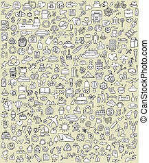 XXL Doodle Icons Set No.2 for every occasion in...