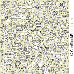 XXL Doodle Icons Set No.3 for every occasion in...