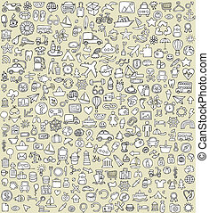 XXL Doodle Icons Set No.4 for every occasion in...