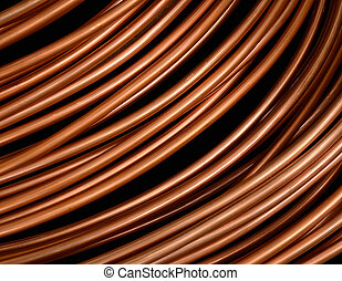 Copper Pipes - Background Isolation Of Copper Tubing Or...