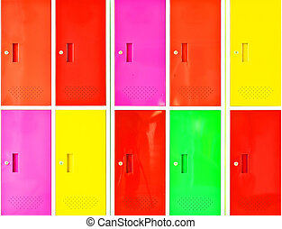 Colorful locker