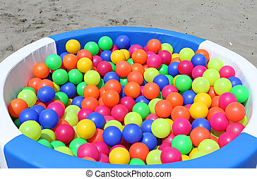 Ball Pit - A ball pit on the beach for playing around