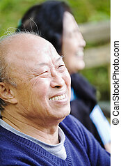 Senior asian couple - A shot of a happy senior asian couple...