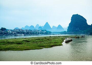 scenario,  Guilin, Cina,  yangshuo