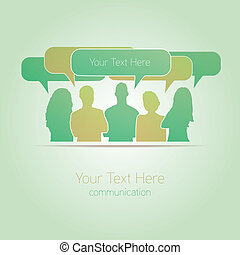 People communicating vector social