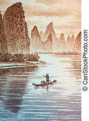guilin scenery on chinese currency (the backside of 20 yuan)...