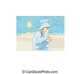 Madonna and child Jesus