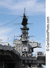 Navy Ship - Radar system of the USS Midway in San Diego.