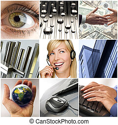 business - colorful business collage made from nine...