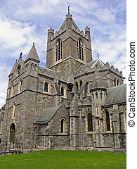 Cathedral in Dublin, Ireland - Massive cathedral in Dublin,...