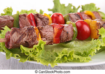 roasted meat kebab