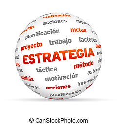 Strategy Word Sphere (In Spanish) - 3d Strategy Word Sphere...