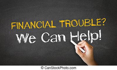 financiero, problema, Tiza, Ilustración