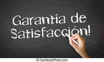 Satisfaction garantied In Spanish - A person drawing and...