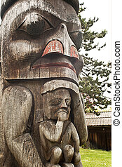 A Totem Pole in British Columbia - A Totem from Victoria BC
