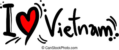 Love Vietnam - Creative design of love vietnam