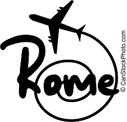 Travel Rome - Creative design of travel rome