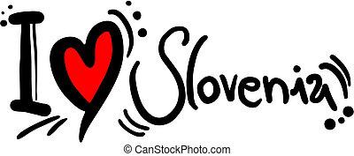 Love slovenia - Creative design of love slovenia