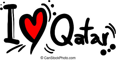 Love qatar - Creative design of love qatar